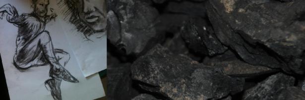 making charcoal-